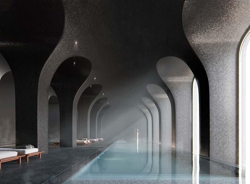 Плавательный бассейн и спа в небоскребе 130 William