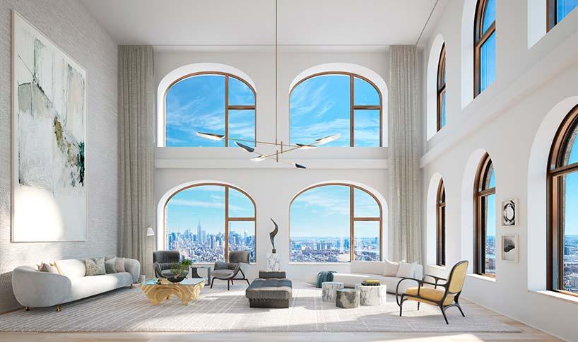 Дизайн квартиры в небоскребе 130 William от Дэвида Аджайе
