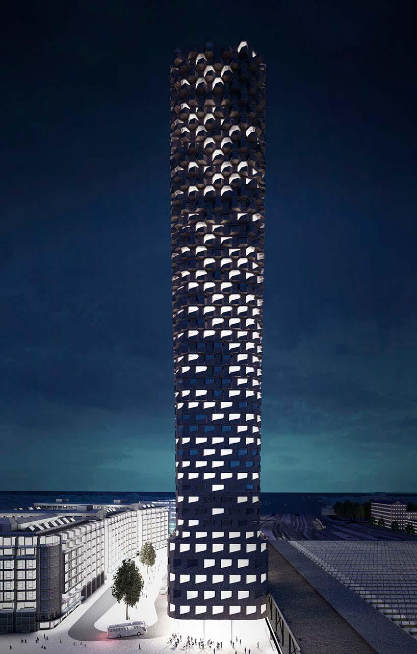 Самый высокий небоскреб в Нидерландах от Matthijs la Roi
