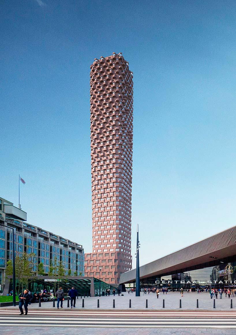 Самый высокий небоскреб в Роттердаме от Matthijs la Roi