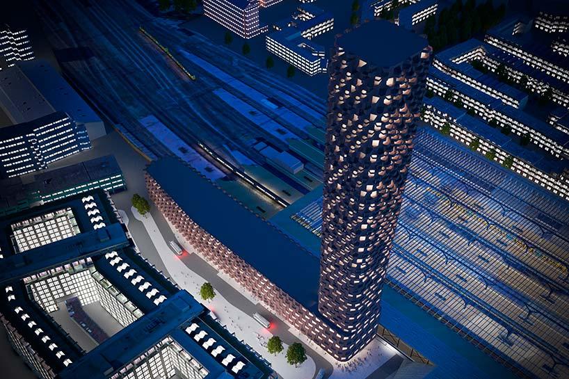 42-этажная башня в Роттердаме. Проект Matthijs la Roi