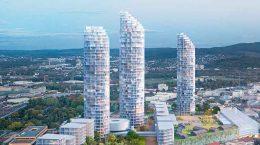 Herzog & De Meuron построит три башни в промзоне Базеля