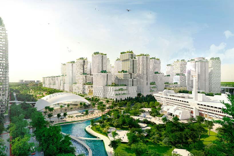 Деловой район JLD в Сингапуре. Проект KCAP