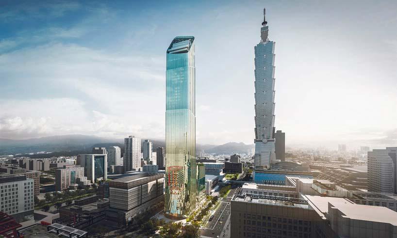 Новый небоскрёб-бамбук и башня Тайбэй 101