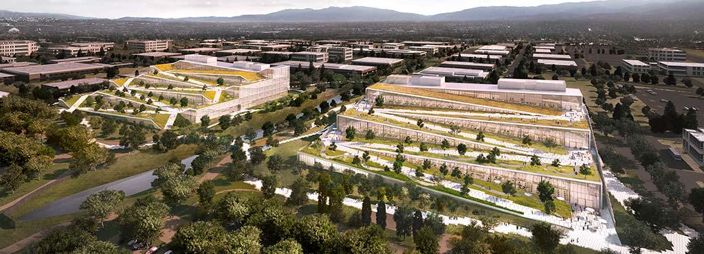 Кампусы-холмы Google в Саннивейле. Проект BIG