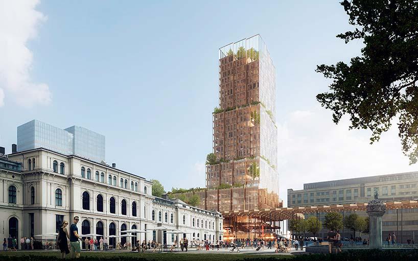 Новый небоскрёб в Норвегии. Проект Рейульфа Рамстада