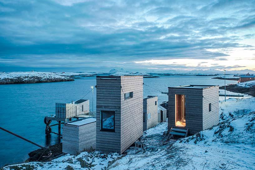 Коттеджный посёлок на берегу Норвежского моря