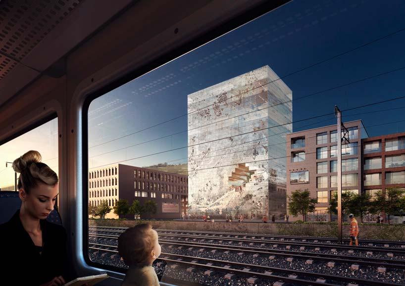 40-метровая Башня The Milestone с дырой в фасаде от MVRDV