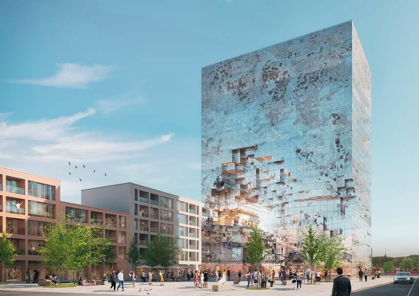 Новый небоскреб The Milestone в Германии от MVRDV