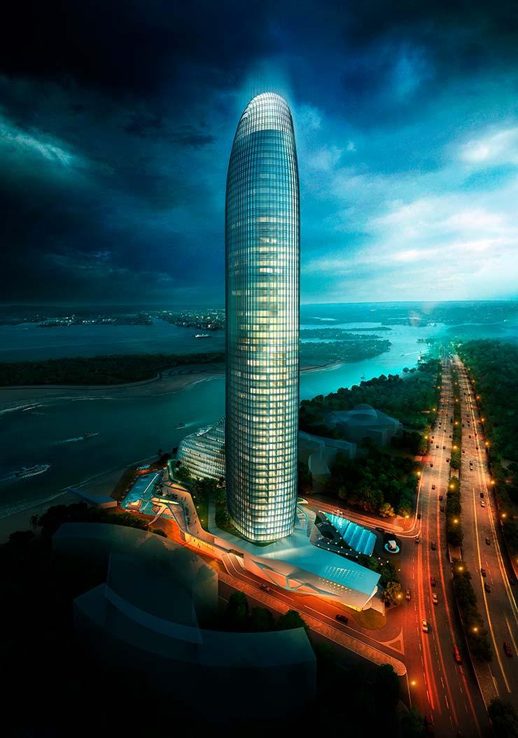 55-этажная башня в городе Шарджа, ОАЭ. Проект AS+R