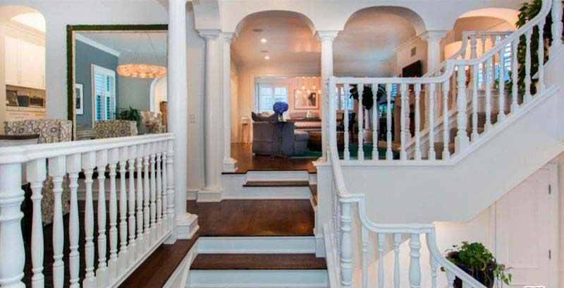 Дизайн лестничной площадки в доме