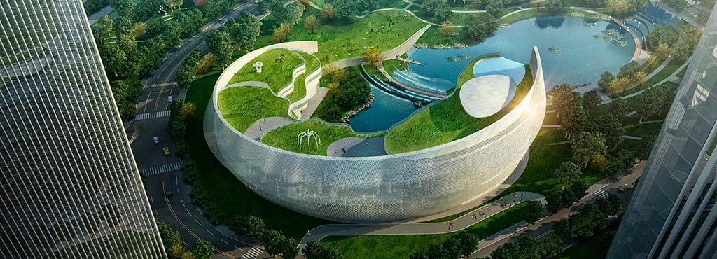 Ландшафтный отель с озерами, водопадами и парками