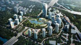 Студия Progetto CMR строит квартал небоскребов в Чунцине | фото