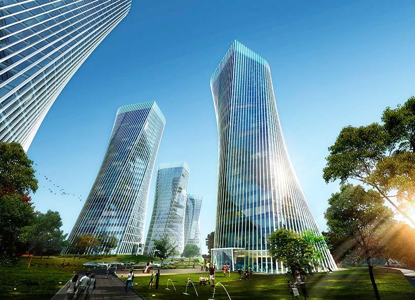 Башни Progetto CMR в китайском городе Чунцин