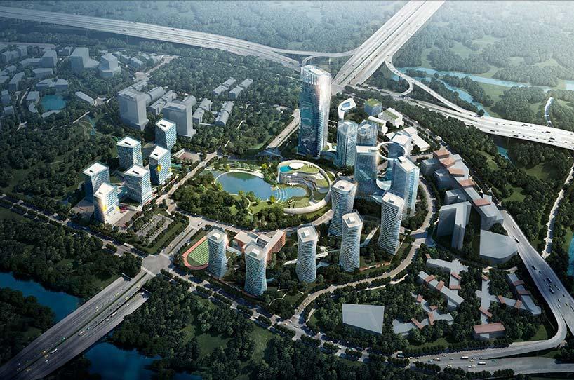 Квартал небоскребов Xiantao Big Data Valley от Progetto CMR