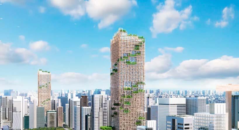 Самый высокий деревянный небоскреб мира от Sumitomo