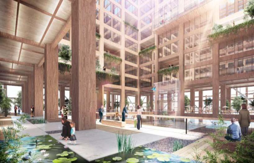 Проект самой высокой деревянной башни в мире от Sumitomo