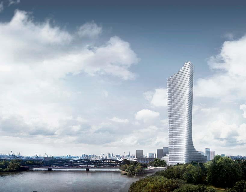 Самый высокий небоскрёб Гамбурга. Проект Дэвид Чипперфилд