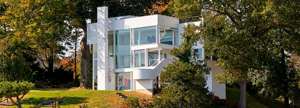 50-летний дом Смитс Хауз. Архитектор Ричард Мейер