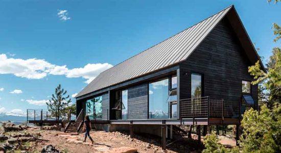 Дом на скале в Колорадо от Renee del Gaudio | фото