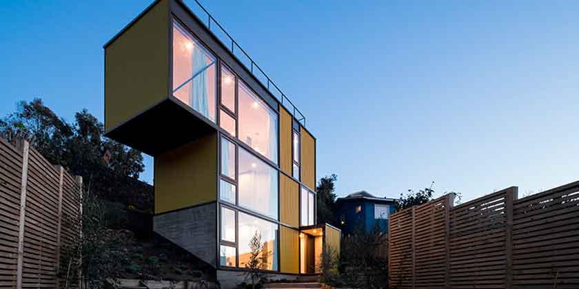 Дом-тетрис в Чили от Aguilo Pedraza Arquitectos | фото
