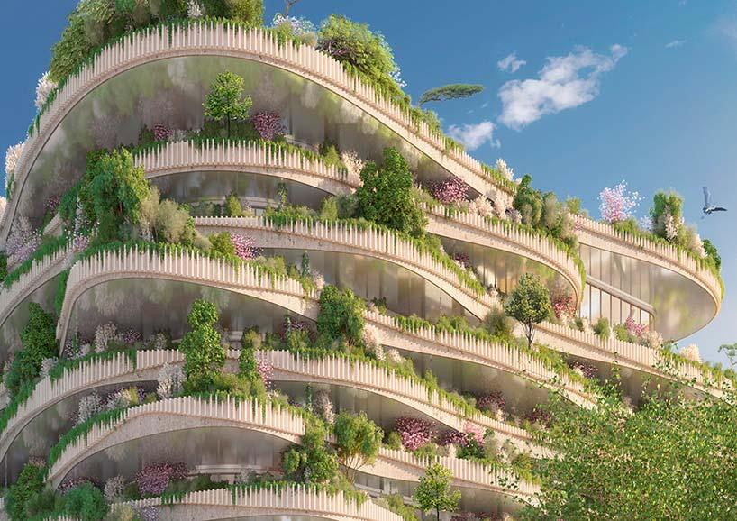 Балконы-сады ЖК Arboricole от Винсента Каллебо