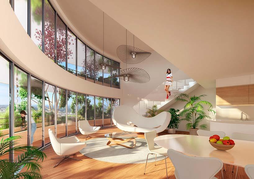 Квартира-сад в комплексе Arboricole от Винсента Каллебо