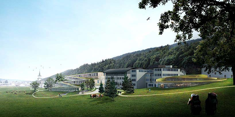 Отель Audemars Piguet в Швейцарских Альпах. Проект BIG