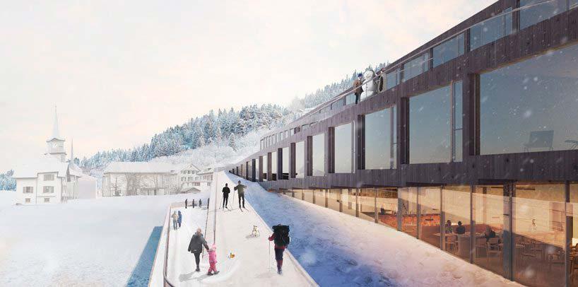 Отель-зигзаг для Audemars Piguet в Швейцарских Альпах