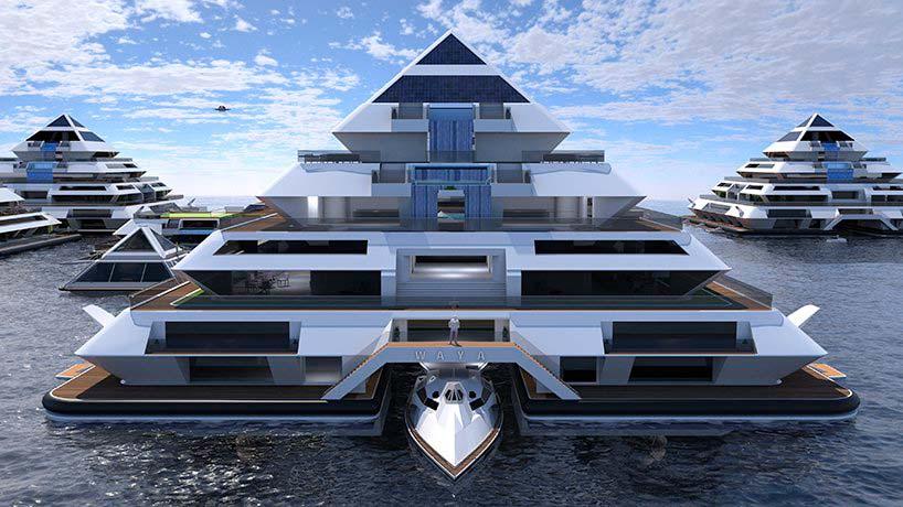 Город-пирамида на воде Wayland