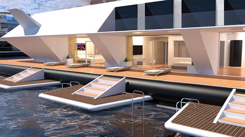 Плавающий отель Waya от Lazzarini Design
