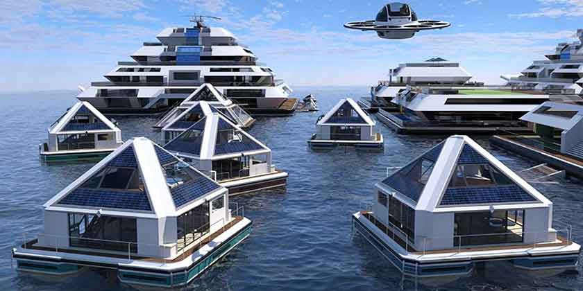 Lazzarini Design представила плавающий город на воде будущего