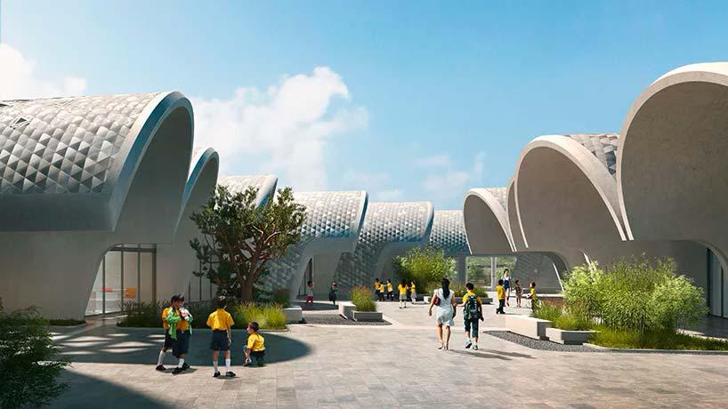Школа из цилиндрических модулей от Zaha Hadid Architects