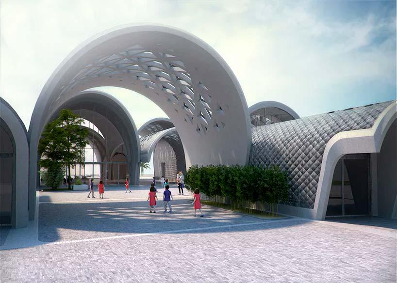 Цилиндрическая школа по проекту Zaha Hadid Architects
