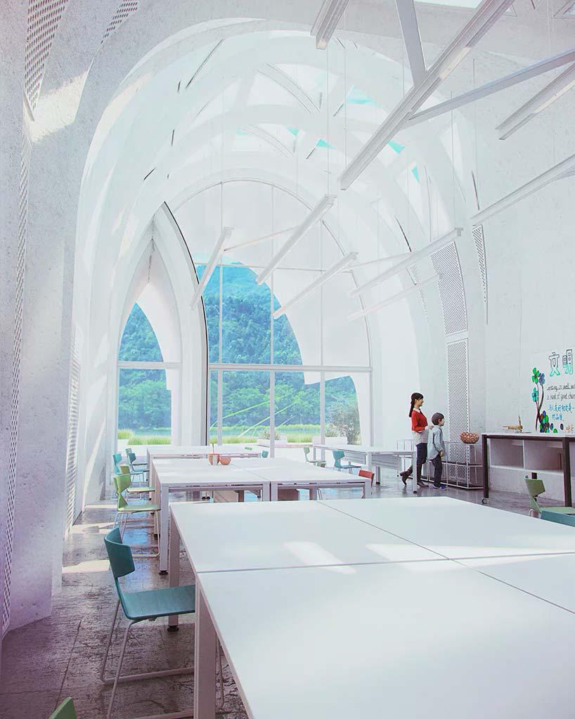 Залитый солнцем класс школы от Zaha Hadid Architects