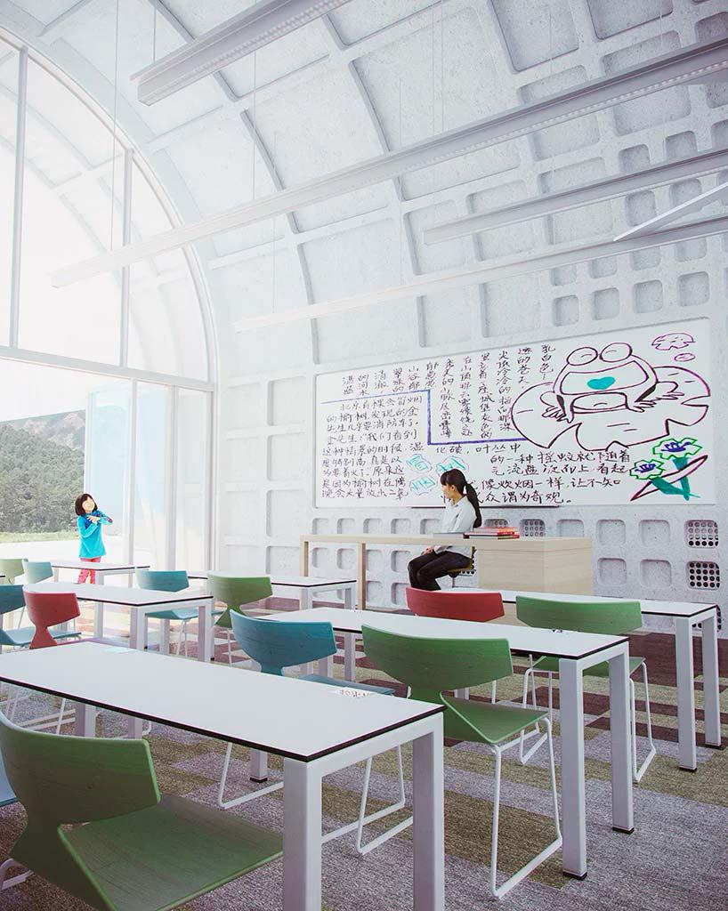 Хорошо освещенные классы школы от Zaha Hadid Architects