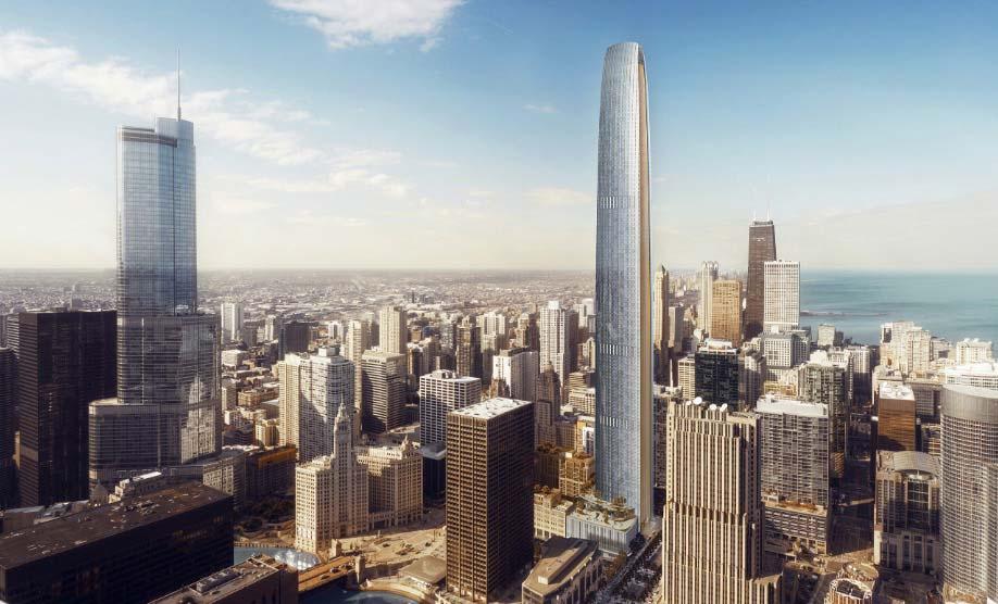 Супер-небоскреб The Chicago Tribune Tower. Высота 433 метра