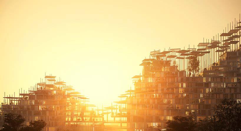 Дизайн Вертикальной деревни в Париже