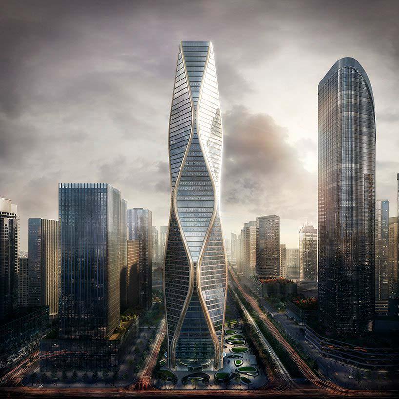 Волнистый небоскреб в Ханчжоу. Проект SOM