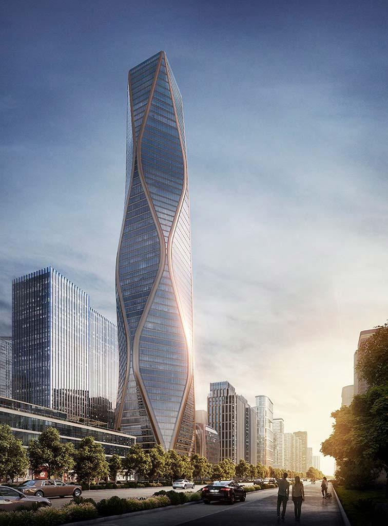 Волнистая башня в Ханчжоу. Проект SOM