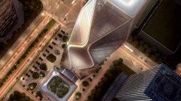 SOM готовит волнистый небоскреб для города Ханчжоу | фото