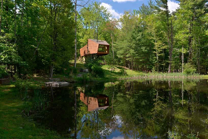Дом на дереве у озера. Проект Antony Gibbon Design