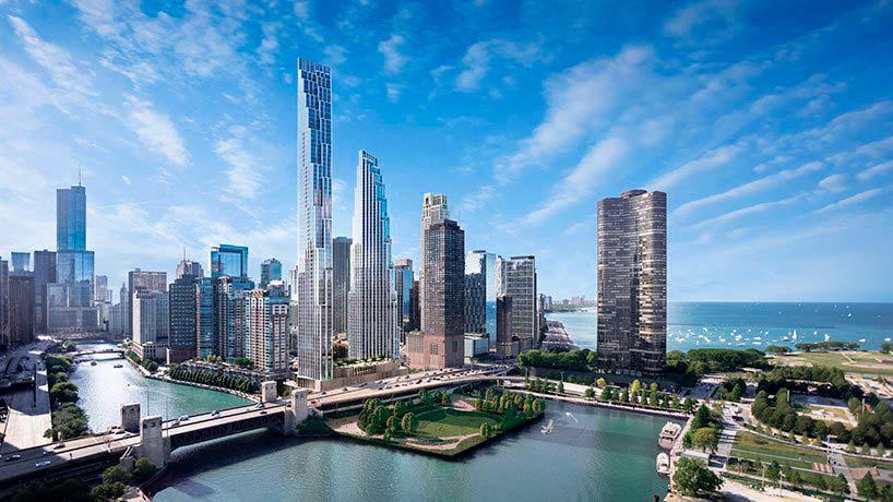 Небоскребы 400 Lake Shore Drive в Чикаго. Проект SOM