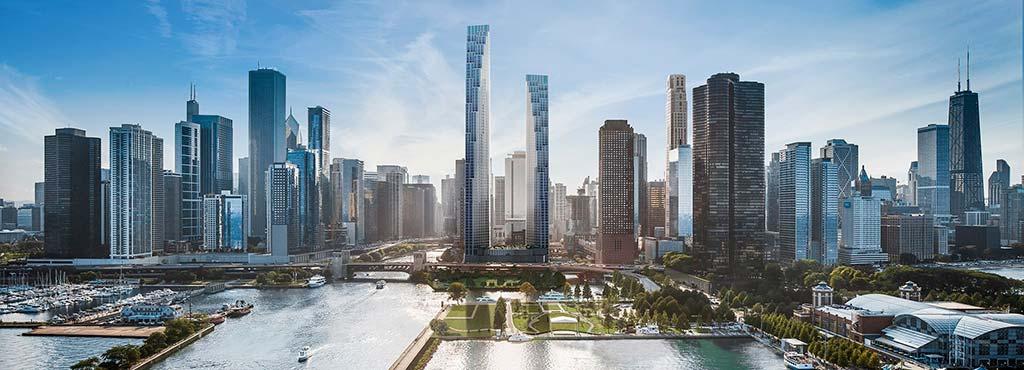 Башни 400 Lake Shore Drive в Чикаго. Проект SOM