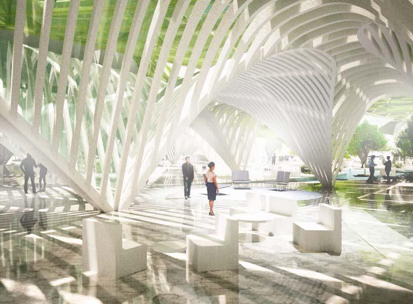 Био-фасад башен из живых водорослей