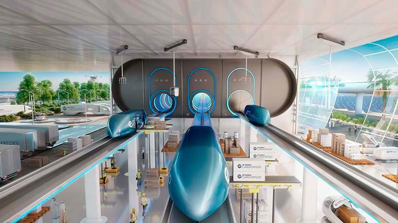Терминал вакуумных поездов Virgin Hyperloop One