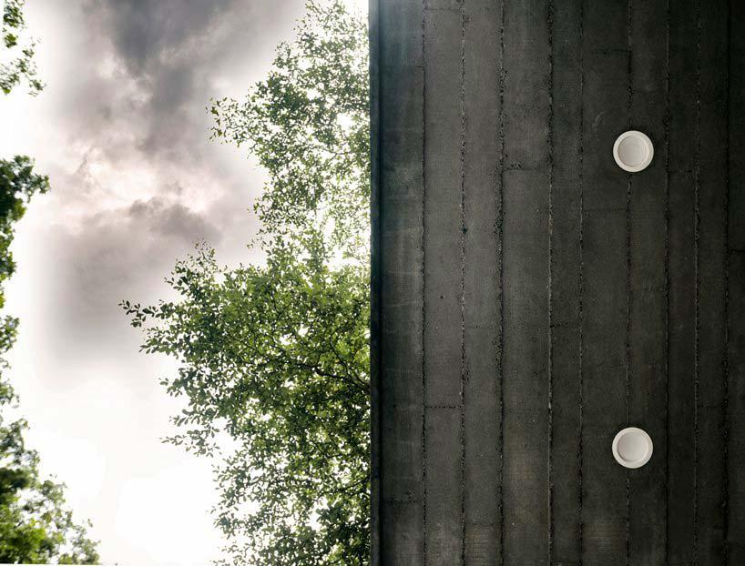 Бетонный экстерьер дома от FLXBL