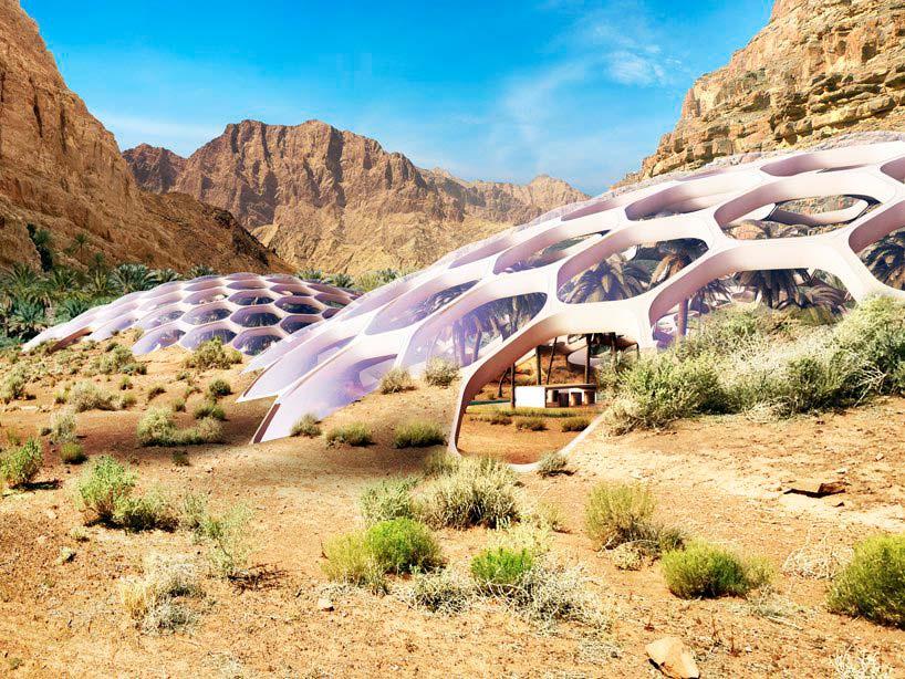 Купольное здание центра охраны дикой природы Biodomes в ОАЭ