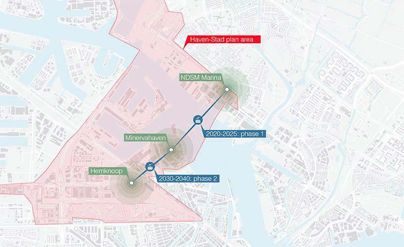 Проект развития канатной дороги Амстердама в две фазы