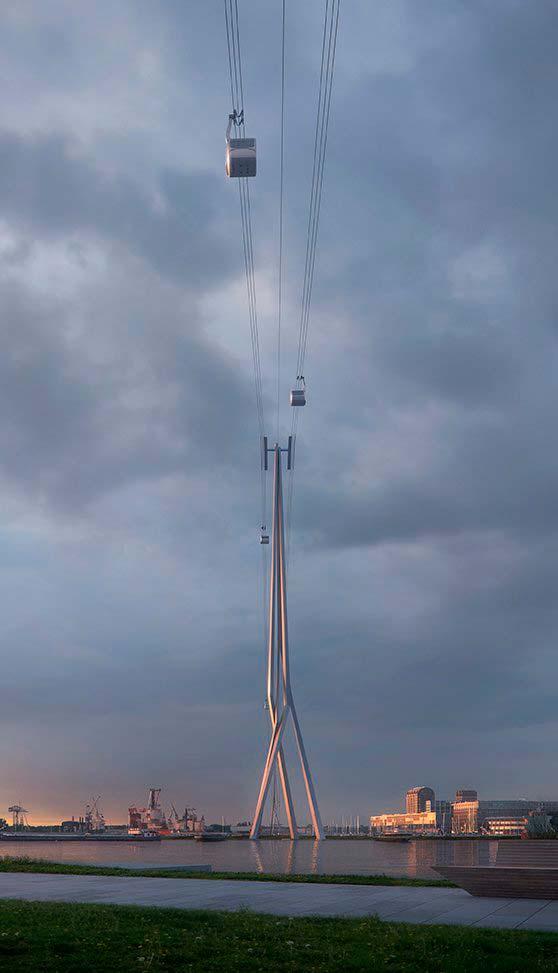 Башня высотой 136 метров канатной дороги Амстердама